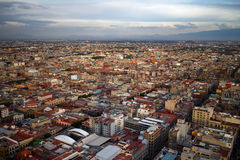 Mexico City Aerial View Royalty Free Stock Photography