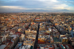 Mexico City Aerial View. From skyscraper in downtown Royalty Free Stock Photos