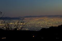 Mexico-City bij nacht Stock Afbeelding
