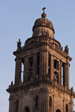 Mexico city cathedral. By dawn in north america Royalty Free Stock Photo