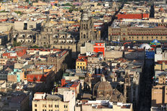 Mexico City Cathedral and Historic Buildings Royalty Free Stock Image