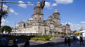 Mexico city cathedral at noon Stock Image