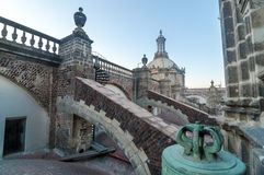 Mexico City Cathedral Roof Royalty Free Stock Photography