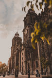 Mexico city cathedral Royalty Free Stock Image