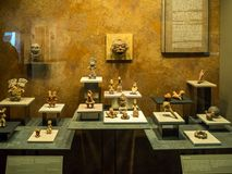 National Museum of Anthropology, ancient Aztec Mayan artifacts. Mexico City, Central America, January 2018[The National Museum of Anthropology, ancient Aztec Royalty Free Stock Photos