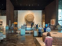 National Museum of Anthropology, ancient Aztec Mayan artifacts. Mexico City, Central America, January 2018[The National Museum of Anthropology, ancient Aztec Stock Image