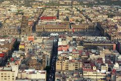 Mexico City centre. Aerial view of Mexico City centre Royalty Free Stock Image