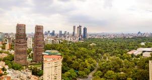 Mexico City Chapultepec panoramic view royalty free stock photos