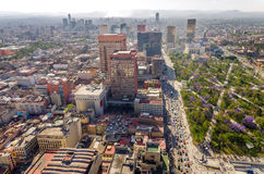 Mexico City Cityscape. Cityscape of Mexico City with a large park and skyscrapers in the background Stock Photos
