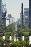 Mexico City in construction. View of the Reforma Avenue, taken from Chapultepec Castle at Mexico City Stock Photo