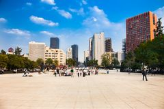 Plaza  De La Republica in Tabacalera,  Mexico city Royalty Free Stock Photography
