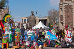 Feast day  of the Virgin of  Guadalupe in Mexico City Stock Photo