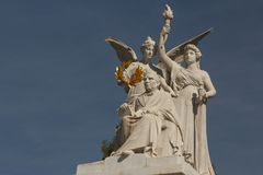Hemiciclo a Juarez. MEXICO CITY / MEXICO - DECEMBER 2014: Hemiciclo a Juarez - neoclassical marble monument to Benito Juarez in the centre of Mexico City, Mexico Stock Image