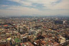 Mexico city DF aerial view with mountains and clouds Stock Images
