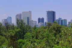 Mexico City. Different points of this great city stock image