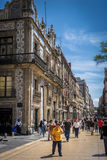 Mexico city downtown. Beautiful mexico city downtown street Stock Photography