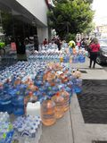Mexico City earthquake today resource being collected Royalty Free Stock Photos