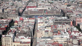 Mexico City Historic Downtown. Zocalo stock video footage