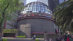 Full view of the Mexican Stock Exchange. stock video