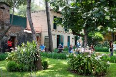 The house of the exiled soviet leader Leon Trotsky in Coyoacan, stock images