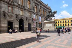The National Museum of Art in the historical center of Mexico City. MEXICO CITY,MEXICO - JULY 12,2018 : The National Museum of Art in the historical center of stock image