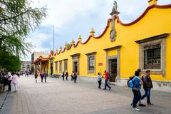 The town hall at the historic neighborhood of Coyoacan in Mexico royalty free stock photography