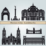 Mexico City landmarks and monuments Royalty Free Stock Photo