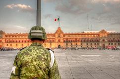 Mexico City, main Plaza Royalty Free Stock Images
