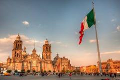 Mexico City, main Plaza Stock Images
