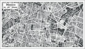 Mexico City Map in Retro Style. Outline Map. stock illustration