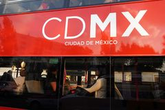 MEXICO CITY, MEXICO - MARCH 18 2018 - The new double decker metr. MEXICO CITY, MEXICO - MARCH 18 2018 - The double-deckers, often referred to London buses, the Stock Images