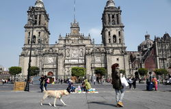Mexico City Metropolitan Cathedral. The Metropolitan Cathedral of the Assumption of the Most Blessed Virgin Mary into Heaven Spanish: Catedral Metropolitana de Stock Photography