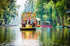 Free Mexico City, Mexico - April 13, 2012. Traditional Boat `trajinera` With Name Liliana On Water Canal Xochimilco Stock Photos - 159619563