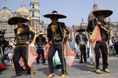 Mexico City, Mexico-December 11, 2018:Pilgrims Celebrate The Festivities at the Basilica of Guadalupe royalty free stock image