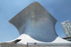 MEXICO CITY, MEXICO - 2011: Exterior of the Soumaya Museum. The Museo Soumaya, designed by the Mexican architect Fernando Romero i. The Museo Soumaya, designed Royalty Free Stock Photos