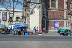 MEXICO CITY, MEXICO - FEBRUARY, 9  2015 - People buying in street shops Stock Image