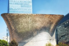 The modern Soumaya museum of art in Mexico City. Mexico City, Mexico - February 15, 2018: Soumaya Museum`s has a modern building, and holds the largest Rodin Stock Photos