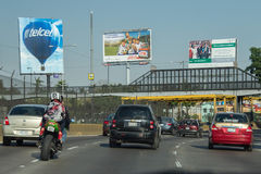 MEXICO CITY, MEXICO - FEBRUARY, 9  2015 - Town highway are congested of traffic Stock Photography