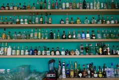 Mexico City, Mexico-January 7, 2017: Mexico City Tequila Museum Stock Images