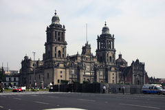 Mexico-City, Mexico - November 24, 2015: De Metropolitaanse Kathedraal van Mexico-City (La Asuncion de Maria van Catedral Metropo Stock Fotografie
