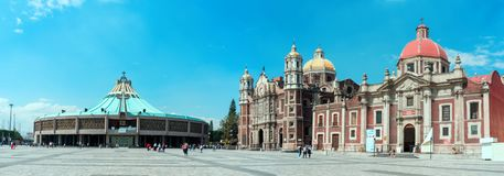 Basilica square of Our Lady of Guadalupe in Mexico city Royalty Free Stock Photo