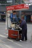 Mexico City, Mexico - November 27, 2015: Shoe Shine Stall in Mexico City Stock Images