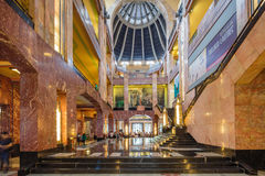 MEXICO CITY, MEXICO - OCTOBER 21, 2016: Interior of the Palacio de Bellas Artes which was planned by Federico Mariscal Stock Images