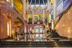 MEXICO CITY, MEXICO - OCTOBER 21, 2016: Interior of the Palacio de Bellas Artes which was planned by Federico Mariscal. Stock Photos