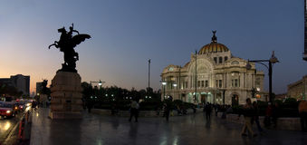 Mexico City, Mexico - 2011: Palacio de Bellas Artes (Palace of Fine Arts) at night. Stock Photography