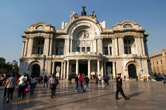 Mexico City, Mexico - 2011: Palacio de Bellas Artes (Palace of Fine Arts). Stock Photography