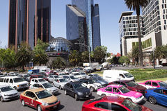 Mexico City MidWeek Traffic Stock Photos