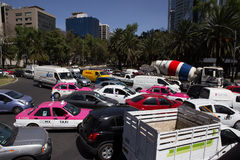 Mexico City MidWeek Traffic Stock Photo