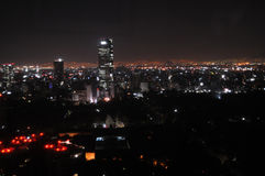 Mexico City at night Stock Images