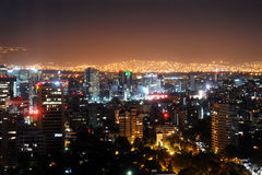 Mexico City at night Stock Image